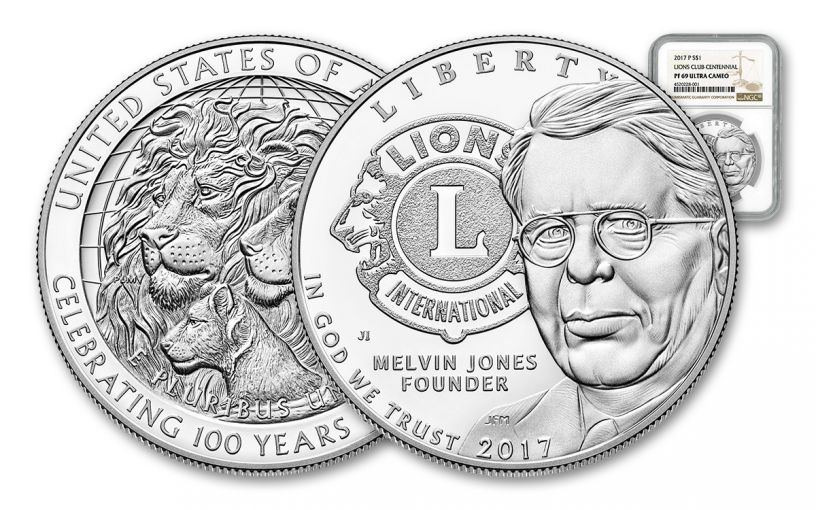 2017 1 Dollar Silver Lions Club Commemorative NGC PF69