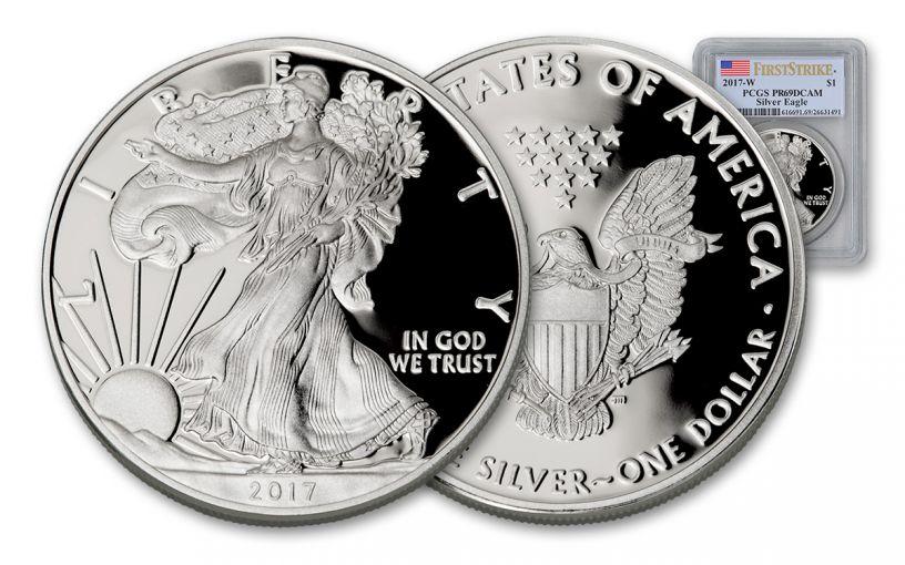 2017 1 Dollar 1-oz Silver Eagle Proof PCGS PR69DCAM First Strike