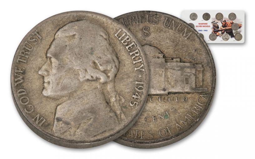 1942-1945 Silver Jefferson War Nickel 11-Pc Set