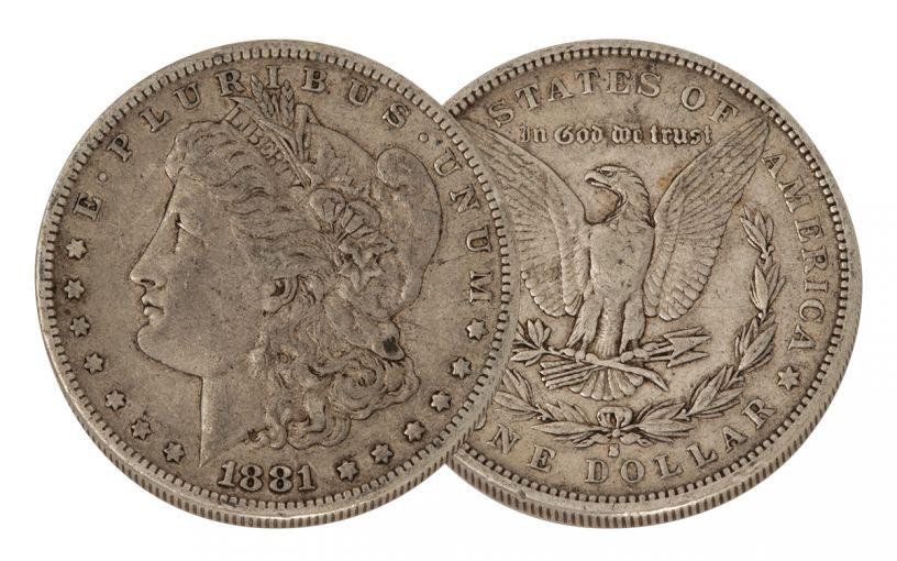 1881-S Morgan Silver Dollar VF