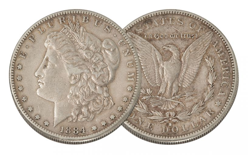 1884-S Morgan Silver Dollar VF