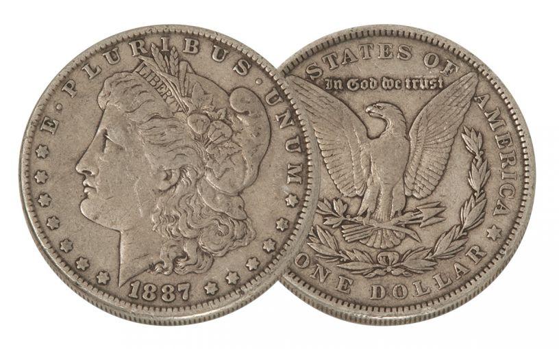 1887-P Morgan Silver Dollar VF