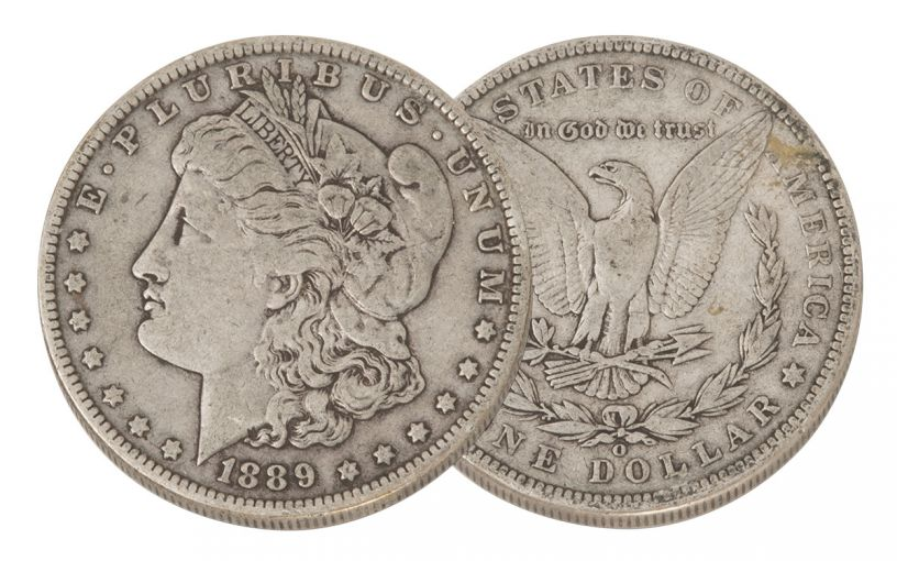1889-O Morgan Silver Dollar VF
