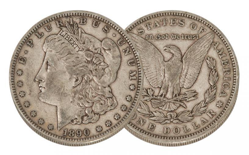 1890-P Morgan Silver Dollar VF