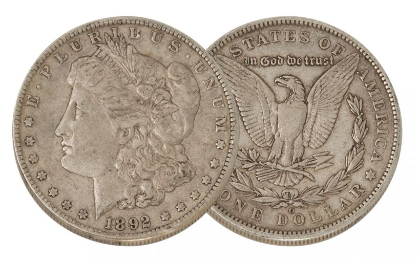1892-O Morgan Silver Dollar VF