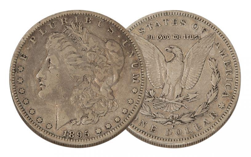 1895-O Morgan Silver Dollar VF