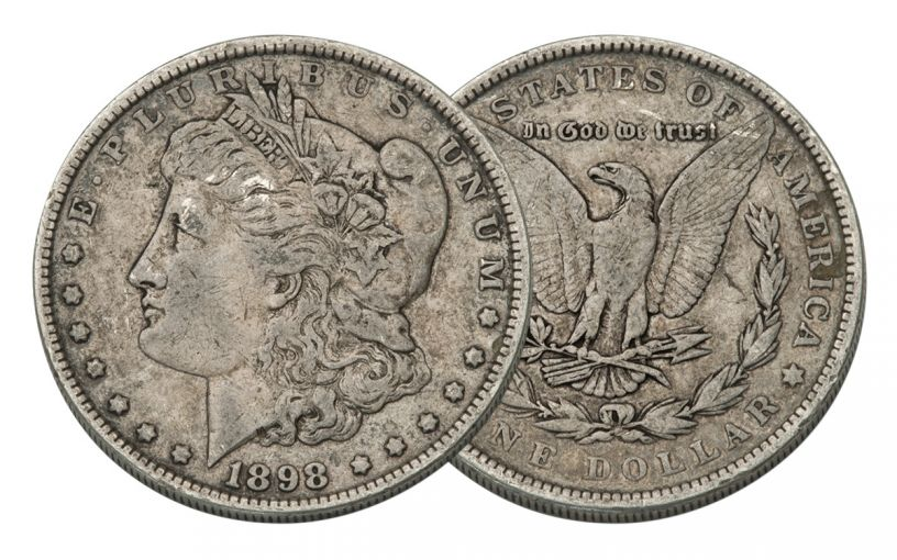 1898-P Morgan Silver Dollar VF