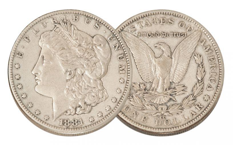 1881-CC Morgan Silver Dollar XF