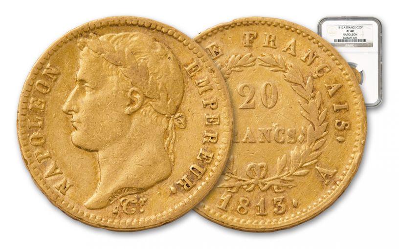 1803-1815 France 20 Franc Napoleon NGC XF