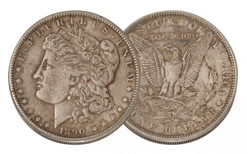 1890-P Morgan Silver Dollar XF
