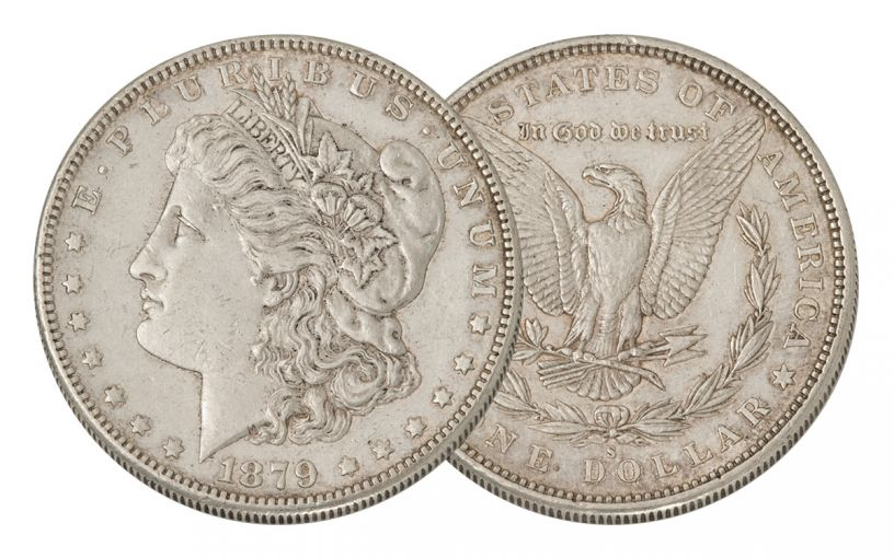 1879-S Morgan Silver Dollar AU