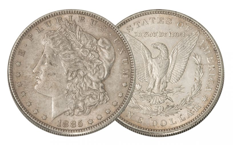 1885-P Morgan Silver Dollar AU