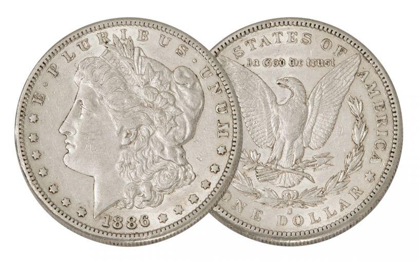 1886-S Morgan Silver Dollar AU
