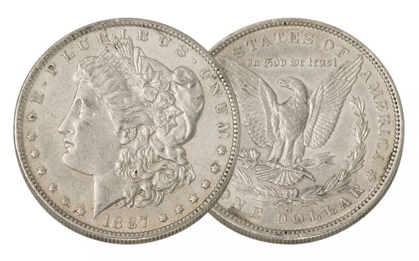 1887-O Morgan Silver Dollar AU