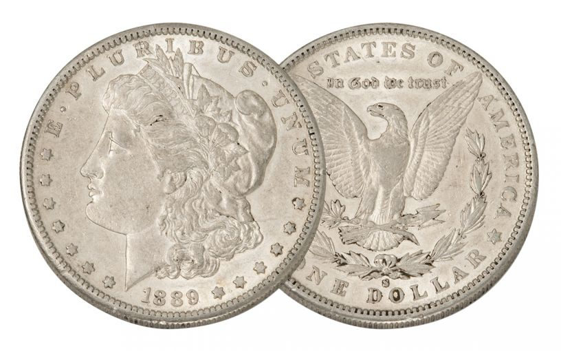 1889-S Morgan Silver Dollar AU