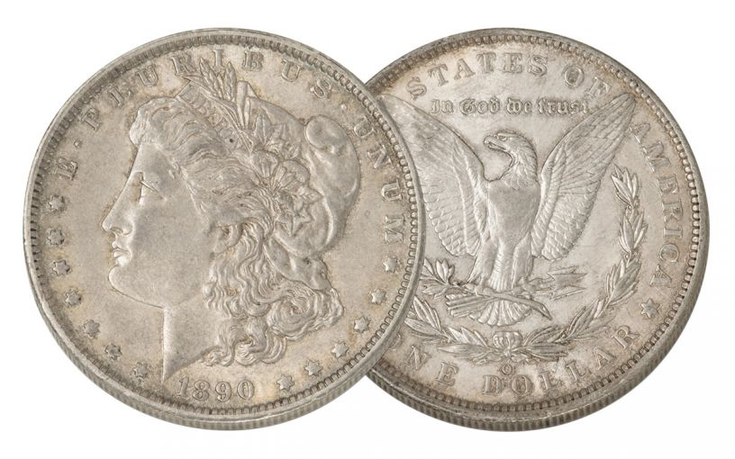 1890-O Morgan Silver Dollar AU