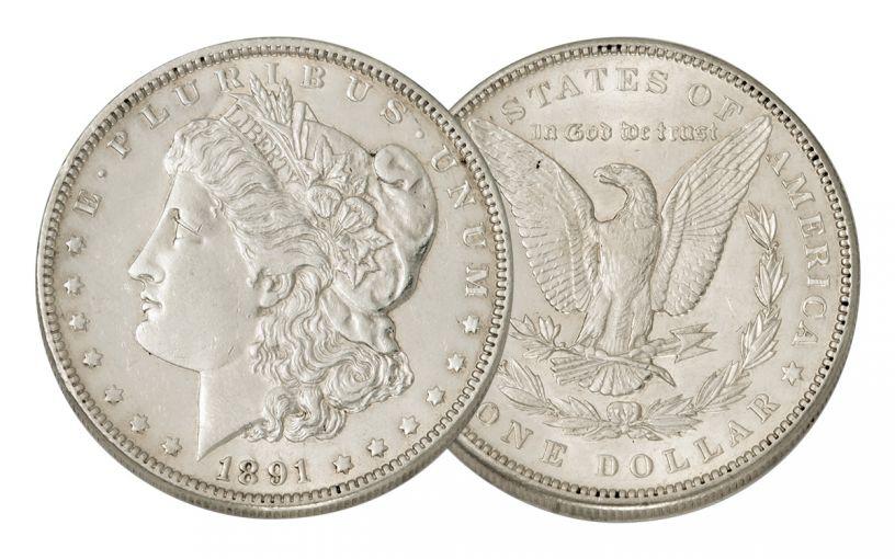 1891-P Morgan Silver Dollar AU