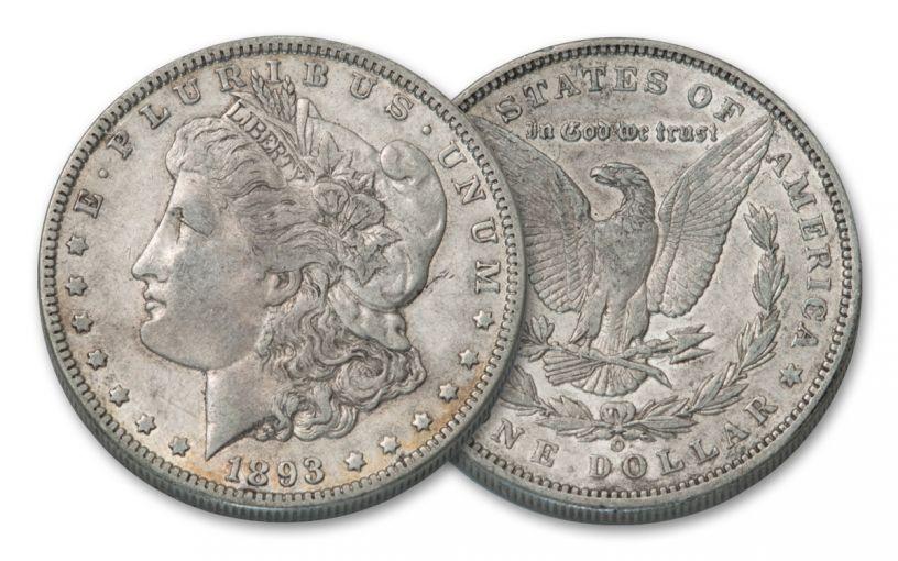 1893-O Morgan Silver Dollar AU