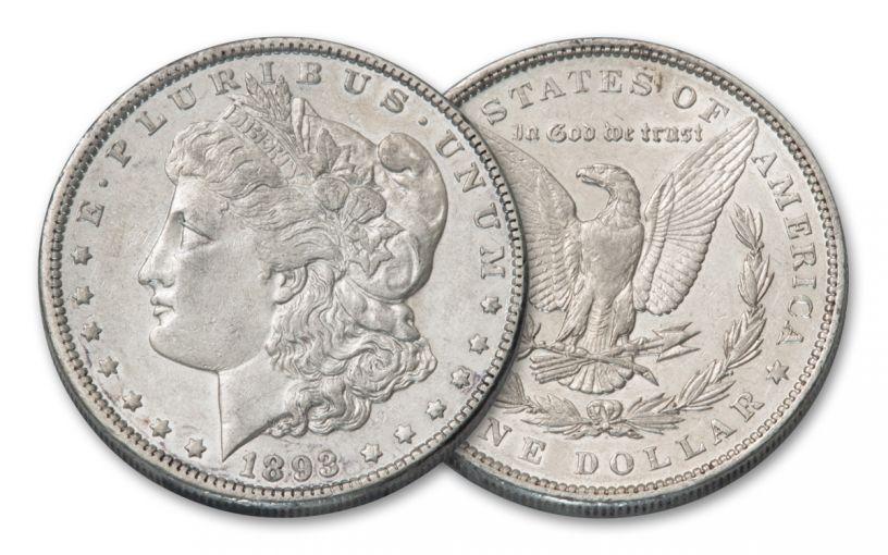 1893-P Morgan Silver Dollar AU