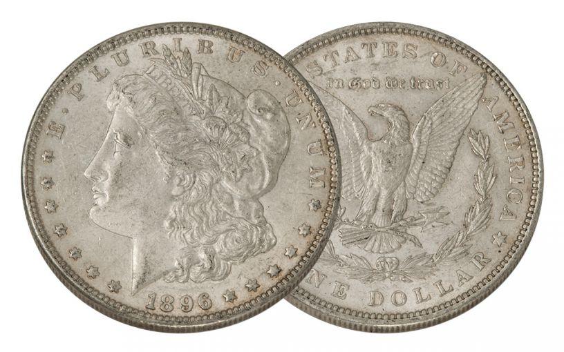 1896-P Morgan Silver Dollar AU