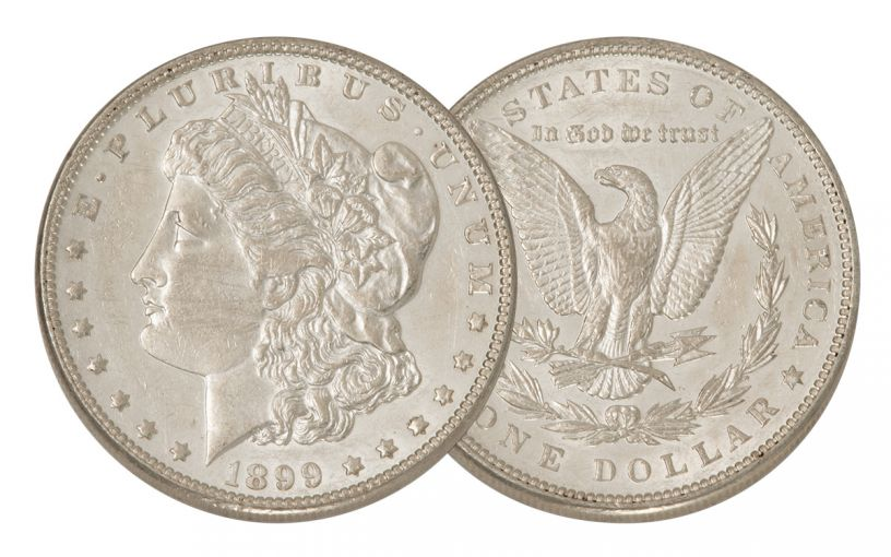 1899-P Morgan Silver Dollar AU