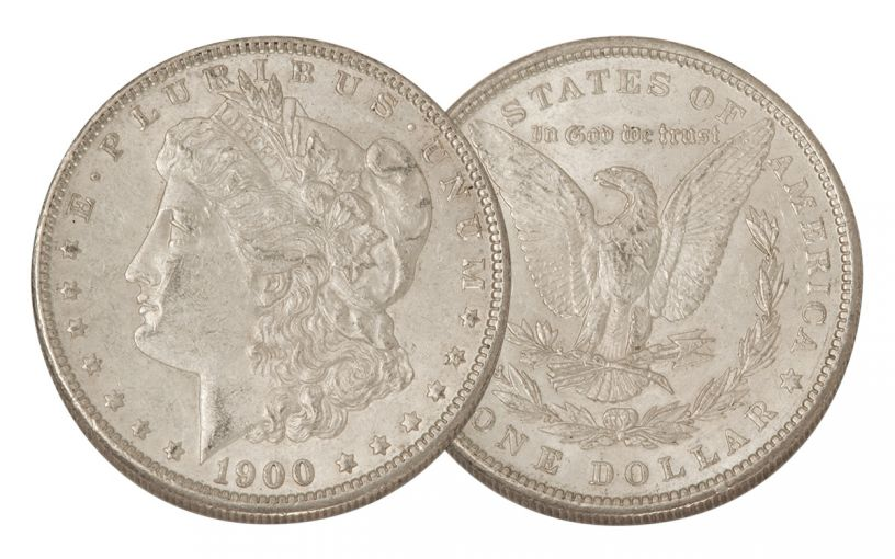 1900-P Morgan Silver Dollar AU