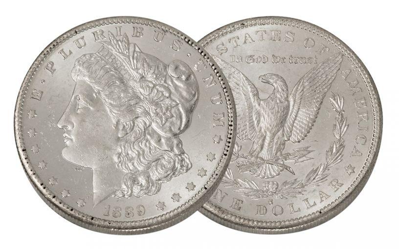 1889-S Morgan Silver Dollar BU