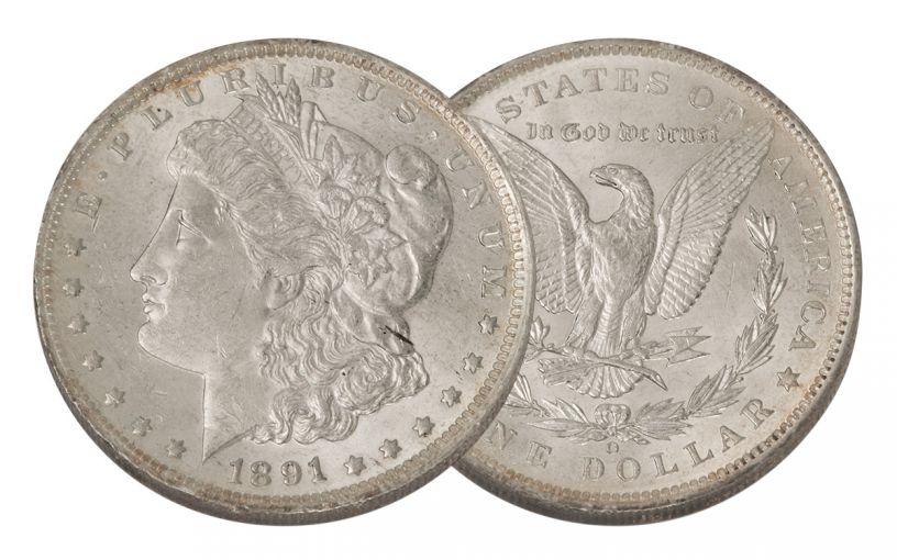 1891-O Morgan Silver Dollar BU