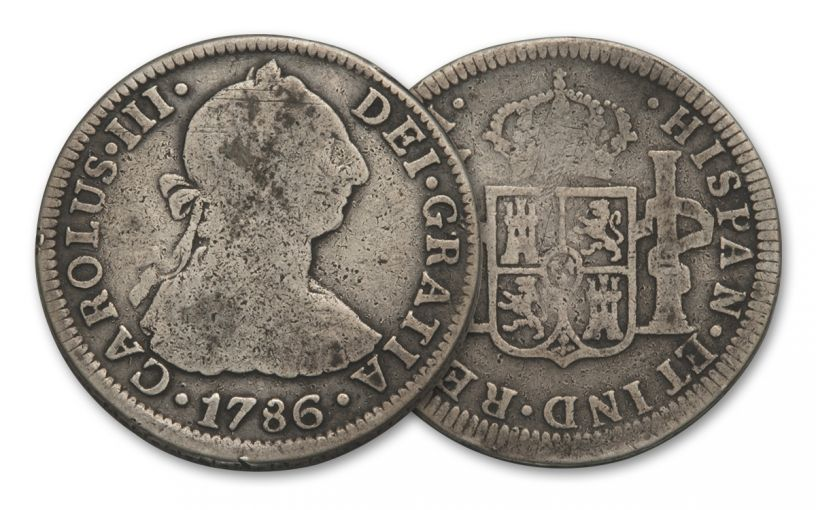 SPAIN 1772-1825 SILVER 2 REALES VG