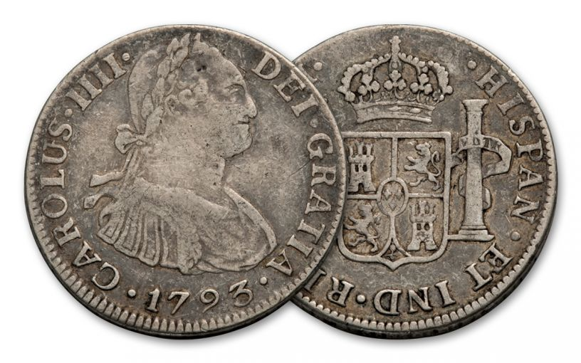 SPAIN 1772-1825 SILVER 2 REALES VF