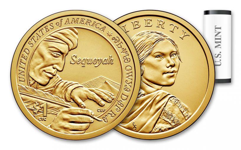 2017-P 1 Dollar Native American BU 25-Coin Roll