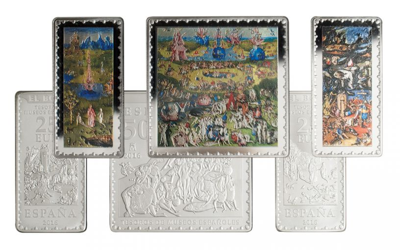 2016 Spain Silver Garden of Earthly Delights Proof 3-Pc Set