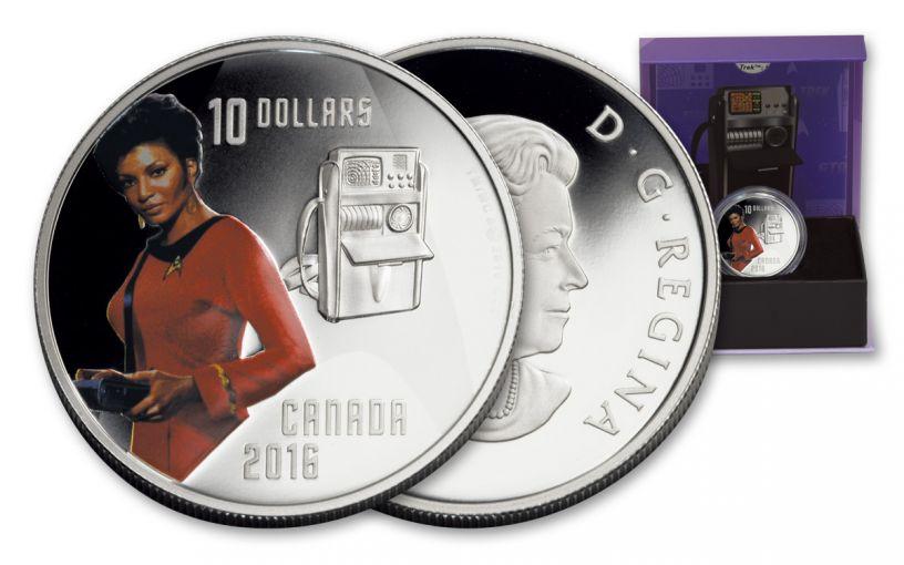 2016 Canada 10 Dollar 1/2-oz Silver Star Trek Uhura Gem Proof