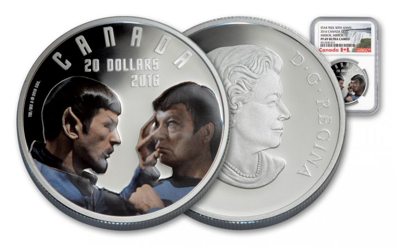 2016 Canada 20 Dollar 1-oz Silver Star Trek Mirror NGC PF69UCAM