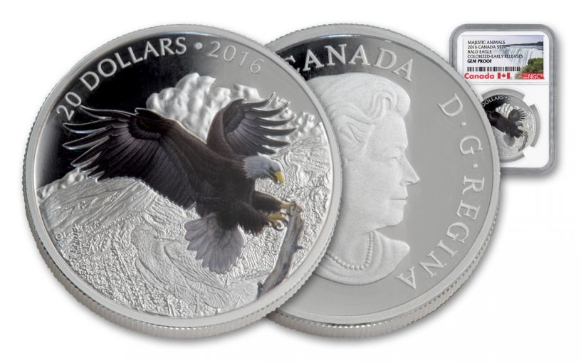 2016 Canada 20 Dollar 1-oz Silver Baronial Eagle Gem Proof