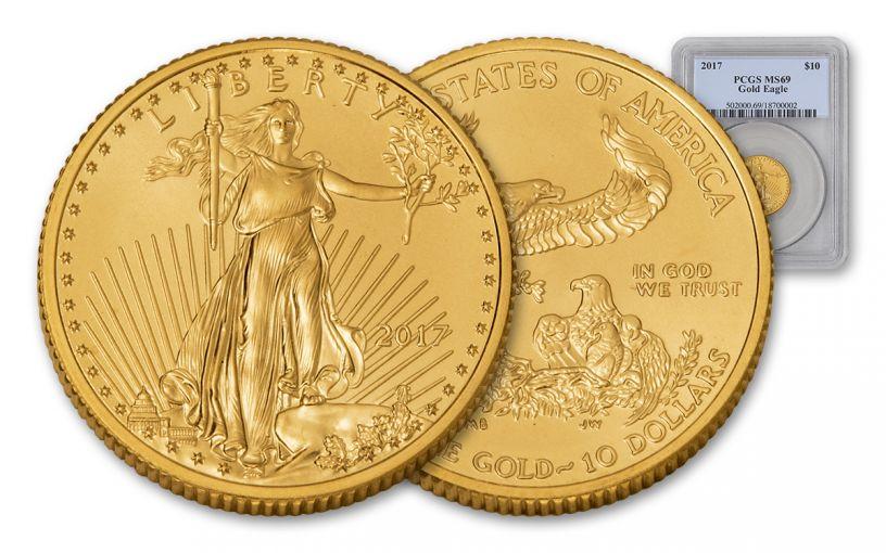 2017 $10 1/4-oz Gold Eagle PCGS MS69