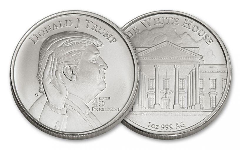 U.S. 1-oz Silver President Donald Trump Round