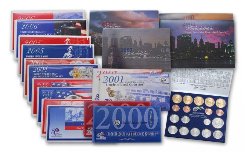 2000-2009 U.S. Mint Set 10-Pc Collection