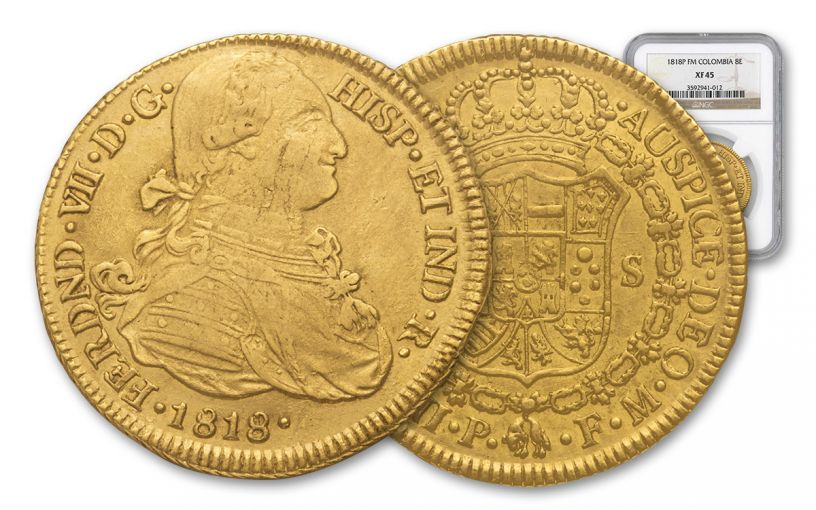 1772-1824 Spain Gold 8 Escudo NGC XF