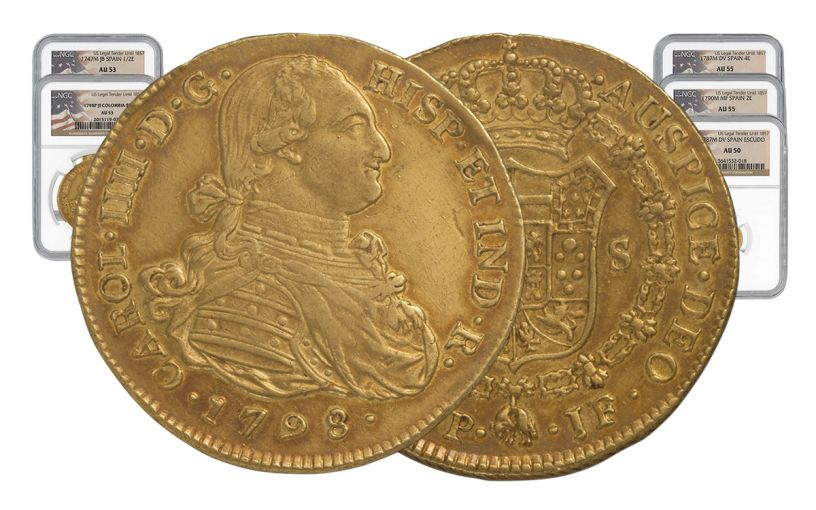 1742-1799 Spain Gold Escudo NGC AU