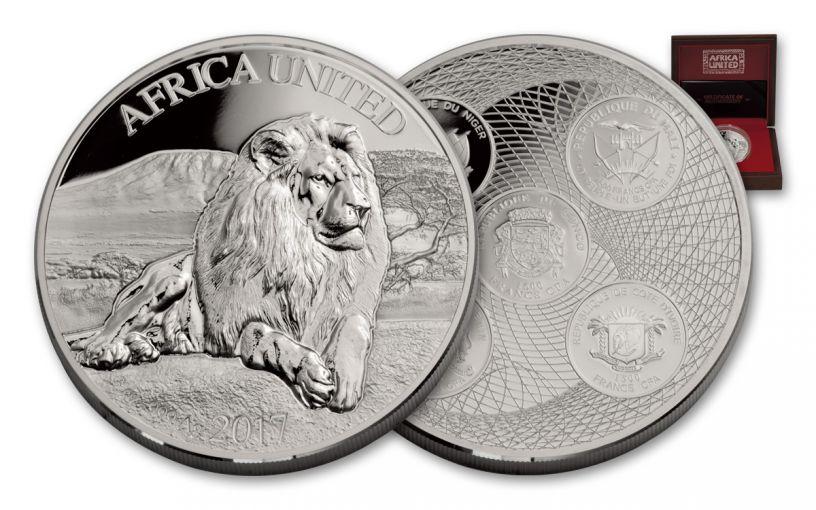 2017 Ivory Coast 1500 Francs 3-oz Silver Africa United Proof