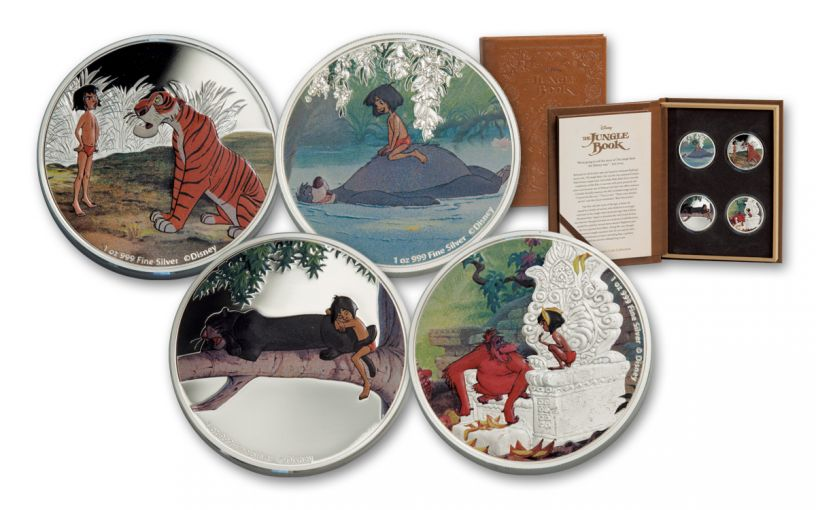 2017 Niue 2 Dollar 1-oz Silver Jungle Book Proof 4 Piece Set