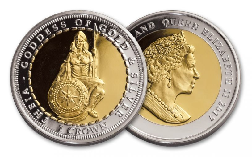 2017 Ascension Islands 1-oz Silver Theia Uncirculated