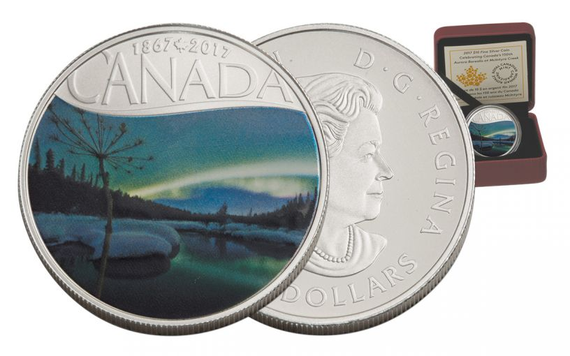 2017 Canada 10 Dollar Silver McIntyre Creek Matte Proof