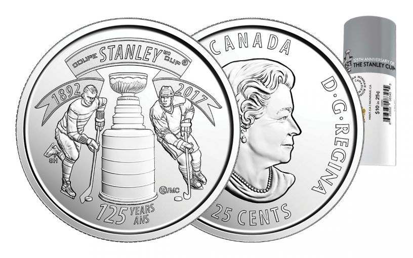 2017 Canada 25 Cent 125th Anniversary Stanley Cup 40-Coin Roll
