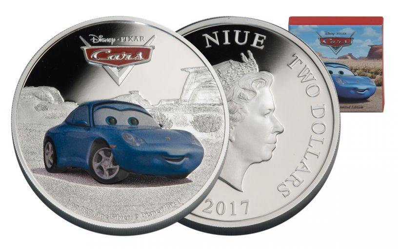 2017 Niue 2 Dollar 1-oz Silver Cars Sally Proof