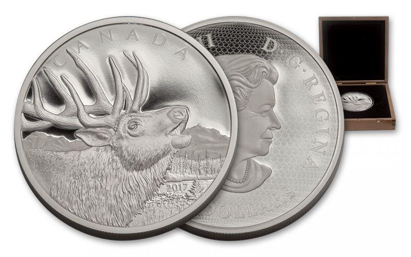 2017 Canada 125 Dollar Half-Kilo Silver Elk Proof