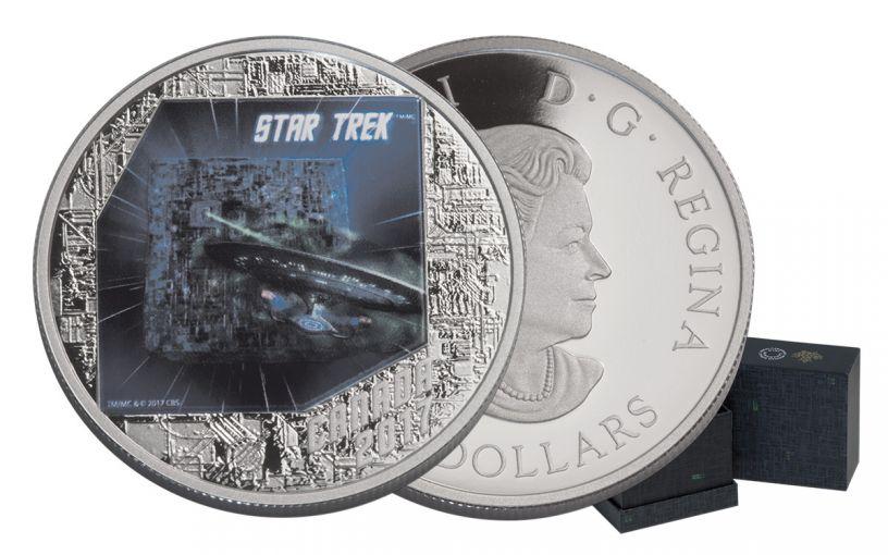 2017 Canada 20 Dollar 1-oz Silver Star Trek The Borg Proof