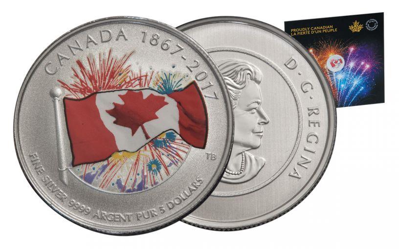 2017 Canada 5 Dollar Silver Proudly Canadian Specimen