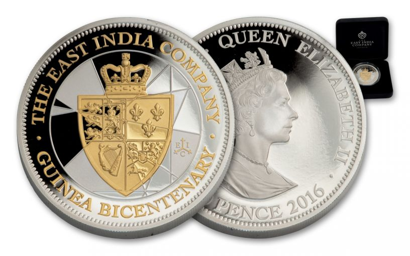 2016 St. Helena 1-oz Silver Bicentenary Guinea Proof